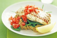 Healthy low-fat meals don't mean compromising on taste. Try this delicious fish and chickpea puree for dinner tonight.