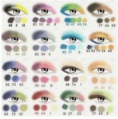 SOMBRAS... según el color de tús ojos