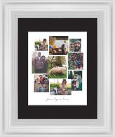 Gallery Collage of Nine Framed Print, White, Classic, White, Black, Single piece, 8 x 10 inches