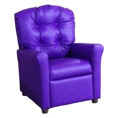 Brazil Furniture 4-Button Back Child Recliner Vinyl Purple - 400-VINYL-PURPLE