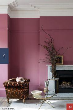 Mauve Walls, Pink Bedroom Walls, Pink Room, Pink Walls, Magenta Walls, Pink Bedrooms, Good Living Room Colors, Living Room Color Schemes, My Living Room