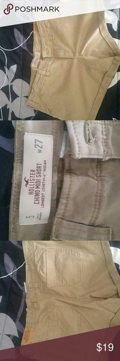 Tan Shorts Hollister brand shorts Kaki color Hollister Shorts Cargos