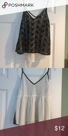 Lush shirt Lush shirt with a lacy front. In excellent condition! Size M Lush Tops