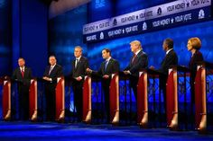 11/01/2015 GOP Candidates Propose Changes to Debate Format Ahead of Meeting:Offering proposals on Sunday morning Talk Shows,ahead of an evening meeting with the RNC over the debate process.From left, John Kasich, Mike Huckabee, Jeb Bush, Marco Rubio, Donald J. Trump, Ben Carson and Carly Fiorina at the Republican debate Wednesday night at the University of Colorado Boulder.