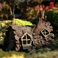 Fiddlehead Log Fairy House