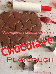 Chocolate Playdough, this is so yummy, you can really eat it!