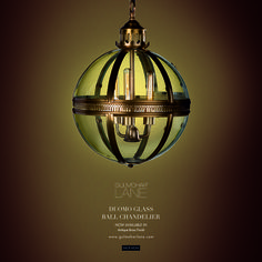 """""""A room is like a stage, if you see it without lighting it can be the coldest place in the world."""" - Paul Lynde  Duomo Glass Ball Chandelier, Now Available in Nickel Finish! http://www.gulmoharlane.com/products/duomo-glass-ball-chandelier-antique-brass-finish"""