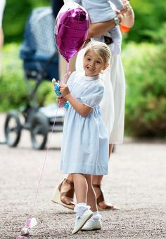 Princess Estelle of Sweden at Crown Princess Victoria of Sweden's 39th Birthday celebrations at Solliden Palace on July 14 2016 in Oland Sweden