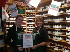 Here's our lovely shop assistants, Abbie & Susan with our Countryside Alliance Awards Winner certificate for North West Local Food Category! :-)