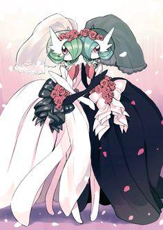 Amezawa Koma, Pokémon, Gardevoir, Wedding Dress, No People, Alternate Color