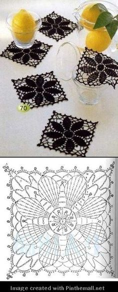 square crochet doily by rita