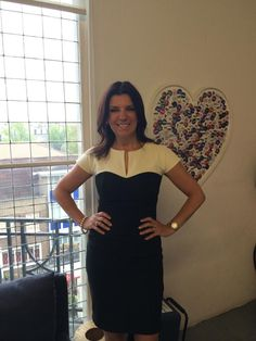 Dr Dawn Harper wearing the Bryony Contrast in Black and Vanilla Cream #gorgeous #EmbarrassingBodies #TheWrightStuff #DivaCatwalk