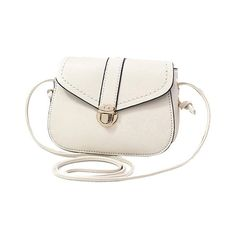 Solid Color Push Lock Crossbody Bag ($8.68) ❤ liked on Polyvore featuring bags, handbags and shoulder bags