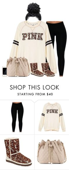 """""""Nothing but lazyness ,"""" by daisyflowers-clxxi ❤ liked on Polyvore featuring Victoria's Secret PINK, UGG Australia, ALDO"""