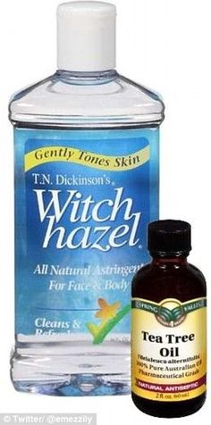 for T-Zone: Mix cup of Witch Hazel and 10 drops of Tea Tree Oil. (Powerful antiseptic toner that minimizes and closes pores)Toner for T-Zone: Mix cup of Witch Hazel and 10 drops of Tea Tree Oil. (Powerful antiseptic toner that minimizes and closes pores) Best Tea Tree Oil, Tea Tree Oil Uses, Tea Tree Oil For Acne, Witch Hazel Uses, Witch Hazel Toner, Witch Hazel For Acne, Tea Tree And Witch Hazel, Witch Hazel Face, Melaleuca