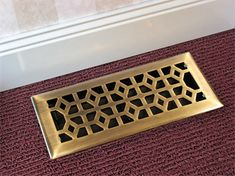 to cover the electrical plate(s) on the floor, safe and stylish and affordable    Marquis Cast Antique Brass Floor Register