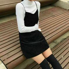 Fashion k fashion k style style moda sexy style sexy fashion sexi moda korean girl kore korean fashion korean style Korean Fashion Trends, Asian Fashion, Look Fashion, 90s Fashion, Winter Fashion, Fashion Outfits, Womens Fashion, Fashion Black, Street Fashion