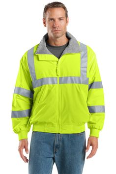 Grab your Mens Safety Jacket with Reflective Taping at a great price and enjoy shopping. http://truetosizeapparel.com/mens-safety-jacket-with-reflective-taping/  #portauthoritychallengerjackets #customlogoembroidery