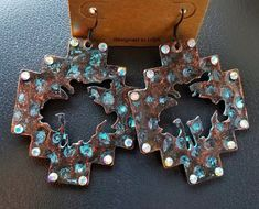 Cowgirl Gypsy patina bronc EARRINGS  Southwestern Rodeo western  #Unbranded #earrings Cowgirl Tuff, Cowgirl Bling, Cowgirl Jewelry, Western Jewelry, Cowgirl Style, Cowgirl Boots, Bling Bling, Cross Jewelry, Cute Jewelry