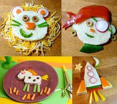 Pratos criativos e saudáveis para as crianças