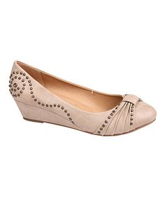 Love this Beige Stud Wedge by De Bengonia on #zulily! #zulilyfinds
