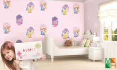 Giấy dán tường bé gái hình công chúa tại Kiên Giang D5072-1