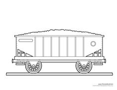 Train Car Coloring Page Art Crafts for Kids Pinterest
