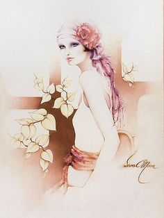 Charlotte by Sarah Moon Sarah Moon, Teheran, Art Deco Illustration, Creation Photo, Moon Print, Deviant Art, Beautiful Paintings, Belle Photo, Oeuvre D'art