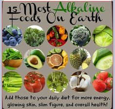 Alkaline foods. Cancer can't survive in an alkaline environment