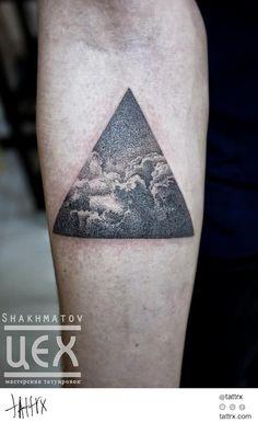 Ian Shakhmatov - Dotwork Cloudscape tattrx.com/artists/ian-shakhmatov