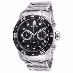 dcfa03c5d3c Invicta Men s Chronograph Stainless Steel Watch - Pro Diver Black Dial  Quartz