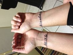 "Wrist tattoos  ""let it be"" ... ""it is what it is"""