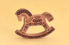 Wooden rocking horse от CZARTOY на Etsy, $20.00
