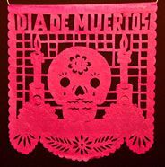 day of the dead papel picado banner sample