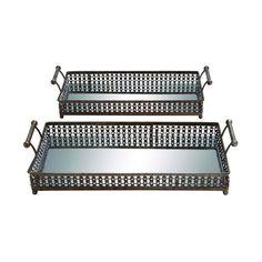 Uttermost 19818 Galiana Ceramic Trays Set Of 2
