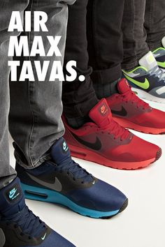 Air Max Tavas Black And Red