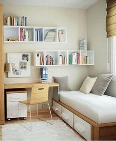 Simple Bedroom Design for Small Space. Simple Bedroom Design for Small Space. Small Bedroom Hacks, Small Room Bedroom, Trendy Bedroom, Bedroom Decor, Bedroom Ideas, Small Rooms, Tiny Bedrooms, Master Bedroom, Modern Bedroom