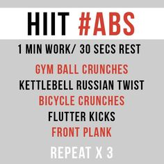 HIIT Ab Workout