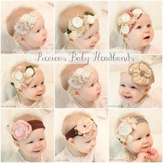 Katies Rose Cottage: New Vintage Style Baby Headbands Cute Kids, Cute Babies, Diy Baby Headbands, Diy Headband, Vintage Fashion, Vintage Style, Diy Hair Accessories, Having A Baby, Baby Love