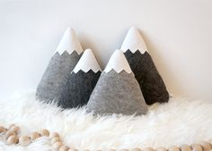 Bring adventure to any room with these cute mountains pillows! Pin now, check out later!