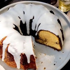 Cinnamon-Roll Pound Cake Recipe | Bon Appétit Cinnamon Roll Pound Cake Recipe, Pound Cake Recipes, Cinnamon Spice, Cinnamon Rolls, Cheesecakes, Cream Cheese Icing, Dessert Recipes, Desserts, Brunch Recipes
