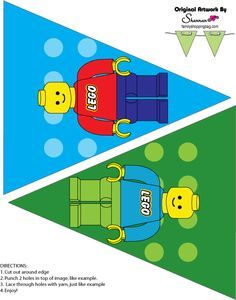 Lego Party Printable Set for Boys/Girls--Click here for set and more designs