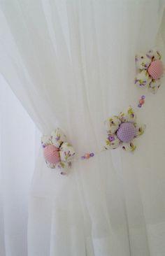 pastel tiebacks for bedroom sheers ~Debbie Orcutt  ❤