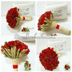 ❤❤❤ Siparis için  05453768273 ten whatapptan ulasiniz www.gelinbuketleri.com Four Square, Elegant Wedding, Place Cards, Wedding Decorations, Bouquet, Artsy, Place Card Holders, Flowers, Ideas