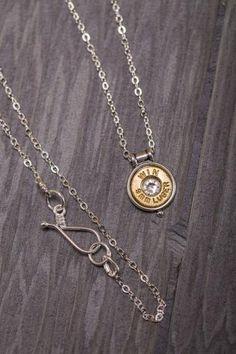 Sterling Silver Bullet Necklace on BourbonandBoots.com