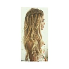 The 2 Minute Rope Braid Hairstyle The Freckled Fox ❤ liked on Polyvore featuring accessories, hair accessories, hair, beauty and braid