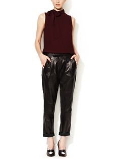 Leather Drawstring Pant by Twelfth Street by Cynthia Vincent at Gilt