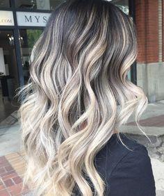 Black+Hair+With+Ash+Blonde+Balayage