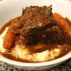 Crockpot Beef Short Ribs--Fixed this for dinner tonight. Great recipe!