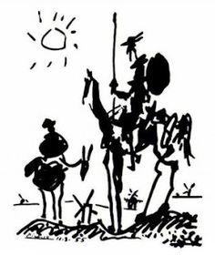 """""""Don Quixote and Sancho Panza"""" Picasso, 1955"""